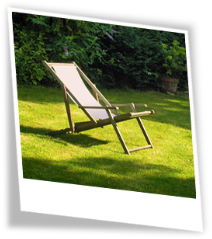Deck Chair on Cut Grass